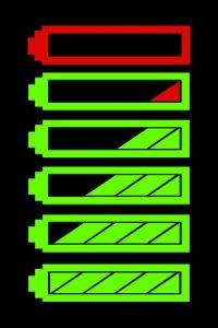 9844870 - battery level indicator vector symbol